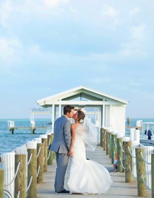 Kissing on the Pier