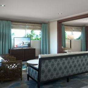 Islamorada Suite Rendering - Actual Finishes May Vary