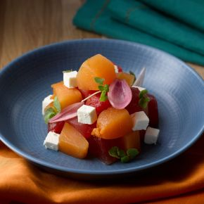 Compressed Melon Salad