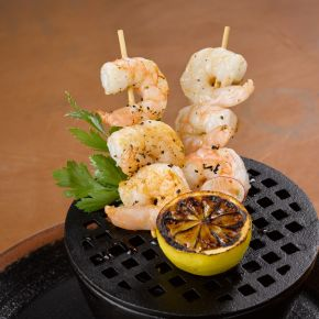 Roasted Garlic Shrimp Katana Robata